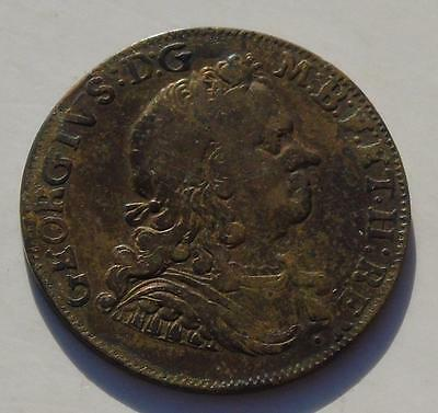 1714 George I Coronation Medalet Britannia Reverse Brass 26mm Medal, early 18thC