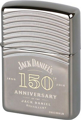 "ZIPPO ""JACK DANIELS 150th ANNIVERSARY"" ARMOR BLACK ICE COLOR LIGHTER ** NEW **"