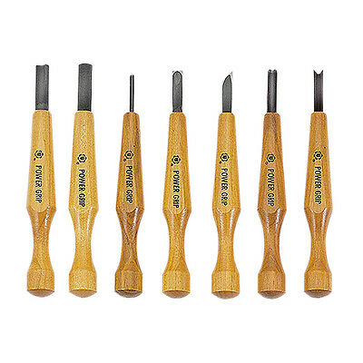 Japanese Power Grip Carving Tools 7pc Set Japanese Woodcarving Set