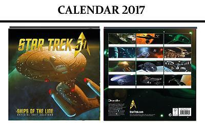 Star Trek Ships Of Line Official Calendar 2017 + Star Trek Fridge Magnet