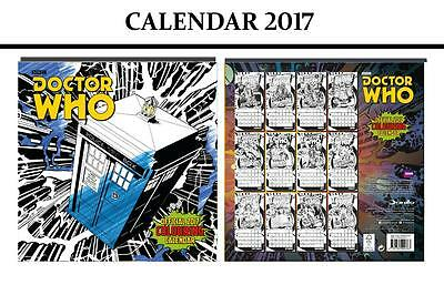 Doctor Who (Colouring In) Official Calendar 2017 + Doctor Who Fridge Magnet