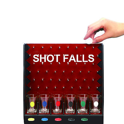 Shot Falls Adult Drinking Fun Party Game 6 Shot Glasses Hen Stag Night