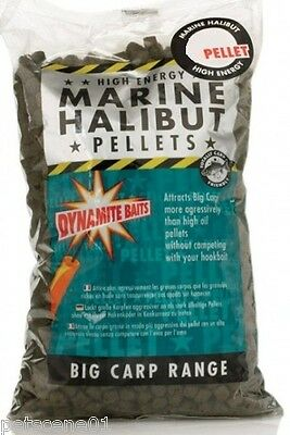 Dynamite Baits High Energy Marine Halibut 10Mm Pellets 900G Attracts Big Carp