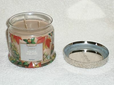 Partylite Maple Walnut 3-wick Jar Candle -- 2016 Holiday Scent!