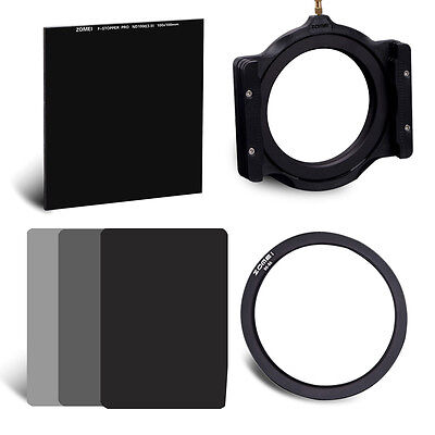 ZOMEI 100mm ND1000+150mm ND2 4 8 lee filter Kit+holder+72mm Ring for Cokin Z-Pro