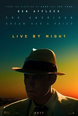 Live By Night - original DS movie poster - 27x40 D/S Ben Affleck Advance