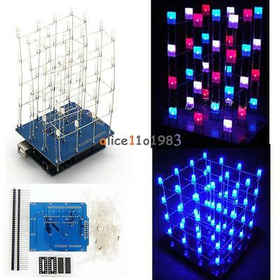 Transparent Acrylic Cube Shell Board 4x4x4 3D LightSquared 2*5*7MM LED Cube