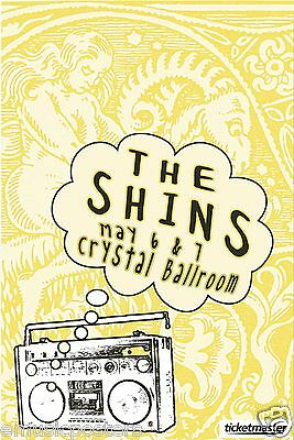 THE SHINS 2012 PORTLAND CONCERT TOUR POSTER - American Indie Rock Music