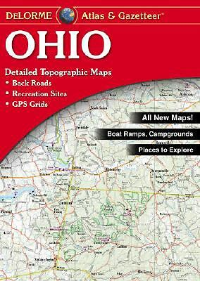Ohio Atlas and Gazetteer by DeLorme Map Staff (2004, Map, Other)