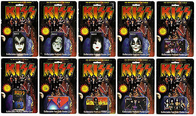 KISS - Kollectable Phone Card Set (10) ~ Sealed #NEW