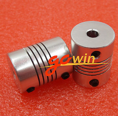 D19L25 Flexible Shaft Coupling CNC Stepper Motor Coupler Connector 8x10mm