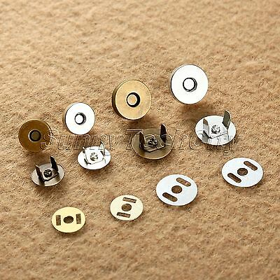 10/50Set 14/18mm Magnetic Fastener Snaps Clasp for Purse Button Sewing Craft Too