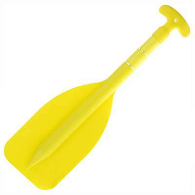 1 x MINI YELLOW TELESCOPIC COMPACT BOAT PADDLE Oar Canoe Inflatable PWC Tinnie