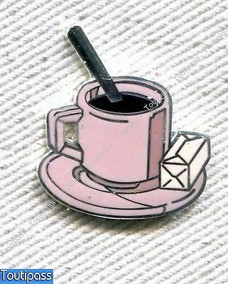 Pins Cafe Coffee Tasse Soucoupe & Sucre Sugar Demons&merveilles Gm