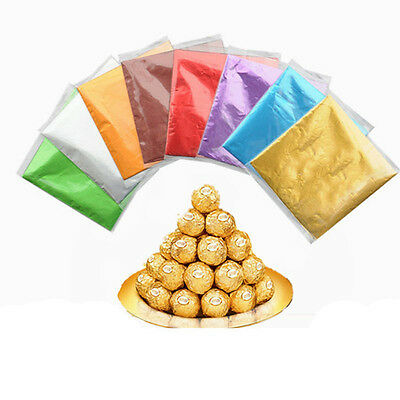 100pcs Square Foil Wrappers For Chocolate Candy Sweets Lolly Confectionery Pack