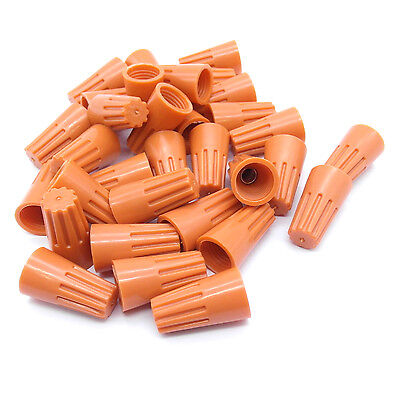 20 pc Orange P3 Screw On Nuts Standard Type Twist on Barrel AWG Wire Connectors
