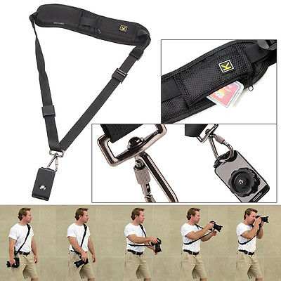Quick Setup Camera Shoulder Neck Strap Belt Sling for Canon Nikon Sony SLR Black