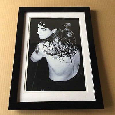 1993 Anthony Kiedis JAPAN mag photo mini poster FRAMED red hot chili peppers 10r