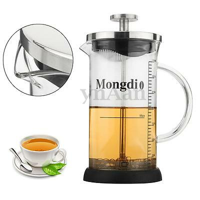 Stainless Steel Kitchen Cafe Coffee Cup Tea Maker Cafetiere Filter French Press