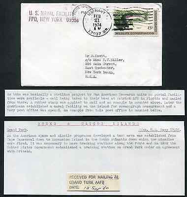 TURKS & CAICOS ISLANDS: (13456) Missile Tracking Station cancel/cover