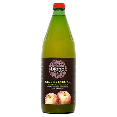 Biona Organic Apple Cider Vinegar with the Mother 750ml Unfiltered & Oak Matured