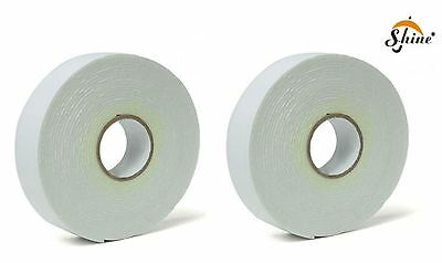 Pack of 2 Double Sided Foam Tape Heavy duty Mounting tape 17mm x 3M Wall picture