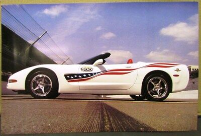 Original 2004 Chevy Corvette Official Indy 500 Pace Car Poster Convertible GM