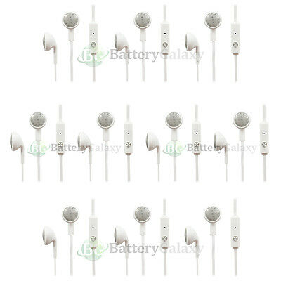 10 Headphone Earphone Headset Earbuds 3.5mm for Samsung Galaxy Note 2 3 4 5 6 7
