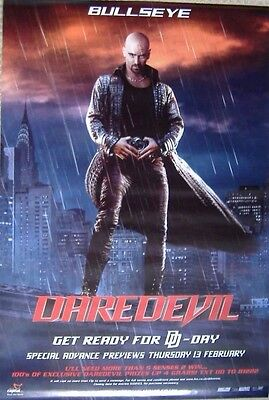Daredevil (2003) Original S/S UK One-Sheet Cinema poster, 'Bullseye' Advance