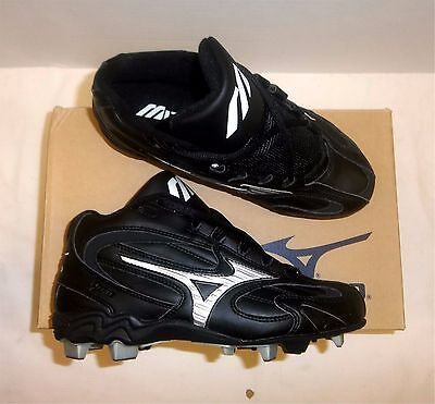Mizuno Franchise MID Generation Line FB36MBK Youth Baseball Cleats NIB Blk/White