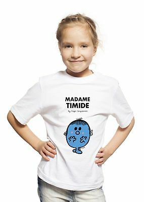 T-shirt Enfant Blanc Madame Timide taille 6 ans [6 ans] - m y d e s i g NEUF
