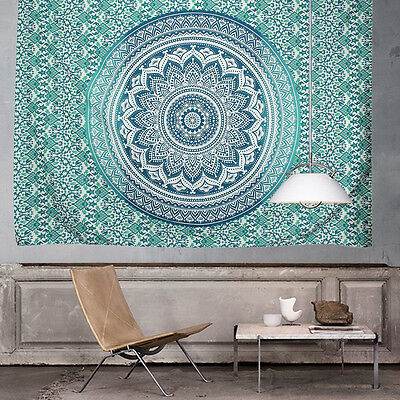 Ombre Indian Wall Hanging Hippie Mandala Tapestry Bohemian Bedspread Dorm Decor