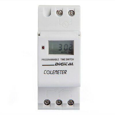 DIN Rail Digital LCD Weekly Programmable Timer AC  250V 16A Time Relay Switch