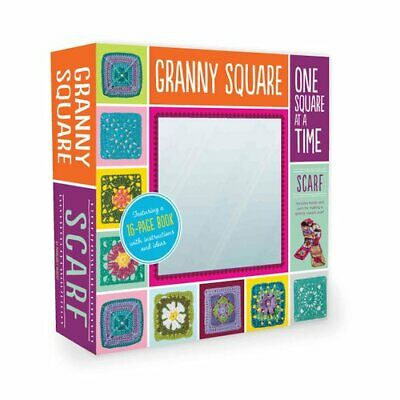 Granny Squares, One Square at a Time / Scarf Kit Includes hook ... 9781589238602