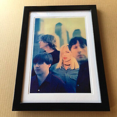 1992 Sonic Youth Kim Gordon JAPAN mag photo pinup mini poster picture FRAMED 12r