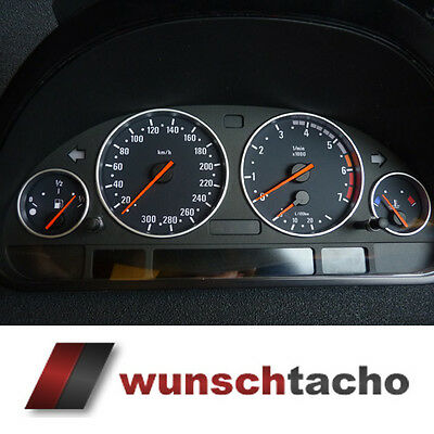 Speedometer disc BMW E38-39/E53/X5 in M5-Style 300 Kmh Petrol Top
