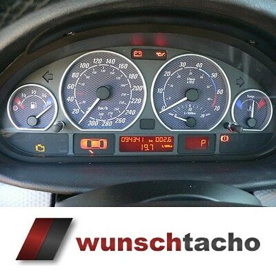 speedometer speedometer dial for BMW E46 Petrol Carbon 300Kmh top