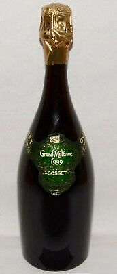GOSSET CHAMPAGNE Bouteille 75 cl factice dummy bottle brut grand millésime 1999