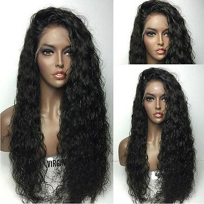 Brazilian Full Lace Wig 7A Remy Human Hair Deep Curly Wave Lace Front Wigs