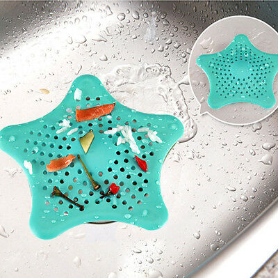 New Colorful Star Silicone Kitchen Sink Filter Sewer Shower Drain Hair Colanders