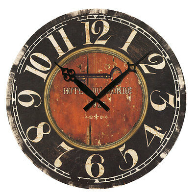 Retro Antique Wooden Vintage Style Wall Clocks Shabby Rustic Home Kitchen Decor