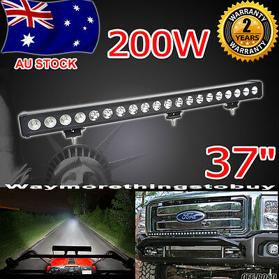 200W 37 Inch CREE LED Spot Flood Combo Light Bar OffRoad 4WD Boat SUV offroad