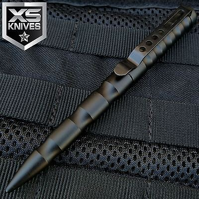 JTEC Aluminum Tactical Pen BLACK Glass Breaker Self Defense Security