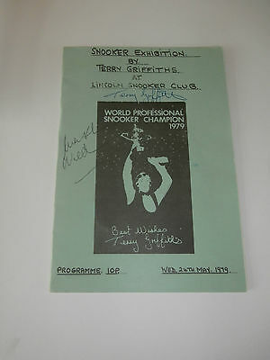 Terry Griffiths V Mark Wildman - Lincoln Snooker Club 1979 - Signed Autographs