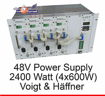 48 Volt 2400W (4 x 600w) Power Supply Voigt and Joe Hale DSLAM Vuh USV
