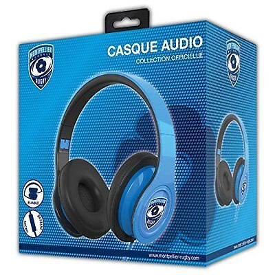 Casque Audio avec microphone - Licence officielle MONTPELLIER HERAULT NEUF