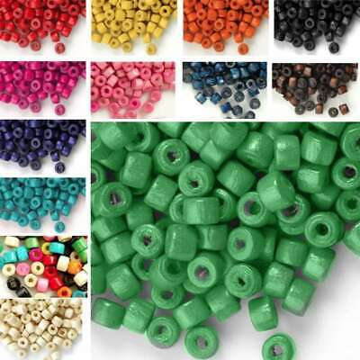 30g Approx 1200pcs Wooden Wood Beads 3x4mm Donut Dyed Beads Jewelry Makings