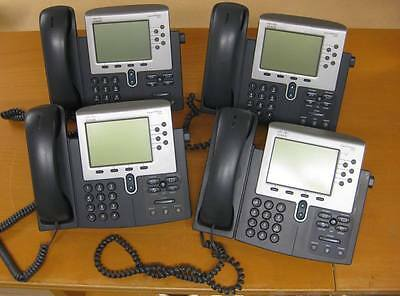 4 x Cisco CP-7962G - 7962G VoIP IP Phone / Telephone with Stand