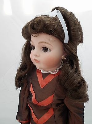 Dolls Wig Long Hair Pulled Back With Ringlet Ponytail In Auburn 01035