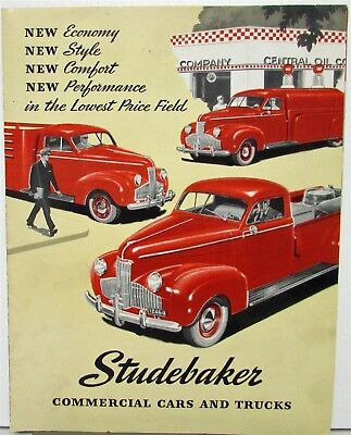 1941 Studebaker Commercial Cars & Trucks Sales Folder Coupe Express Pickup
